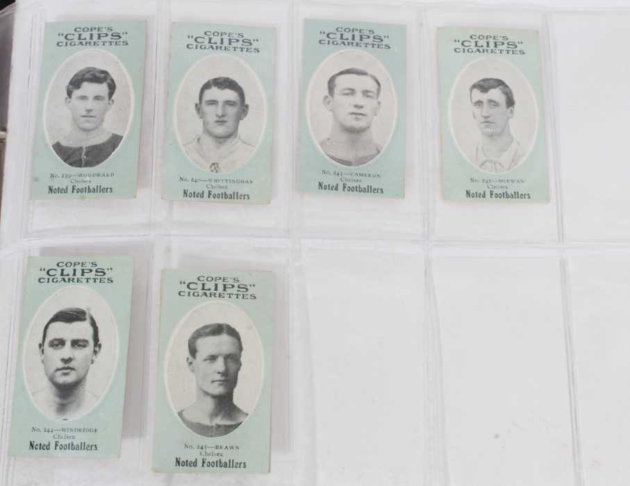 Cigarette cards - Cope Bros 1910. Noted Footballers (Clips 282 Subjects) 41 different subjects. - Image 5 of 12