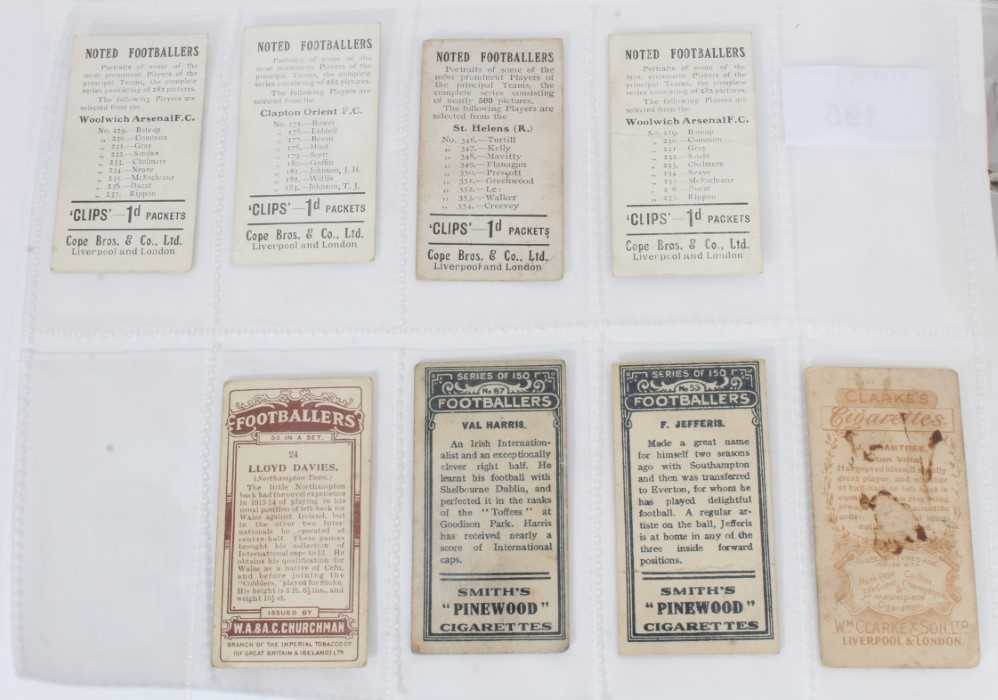 Cigarette cards - Selection of scarce football related cards. - Image 2 of 2