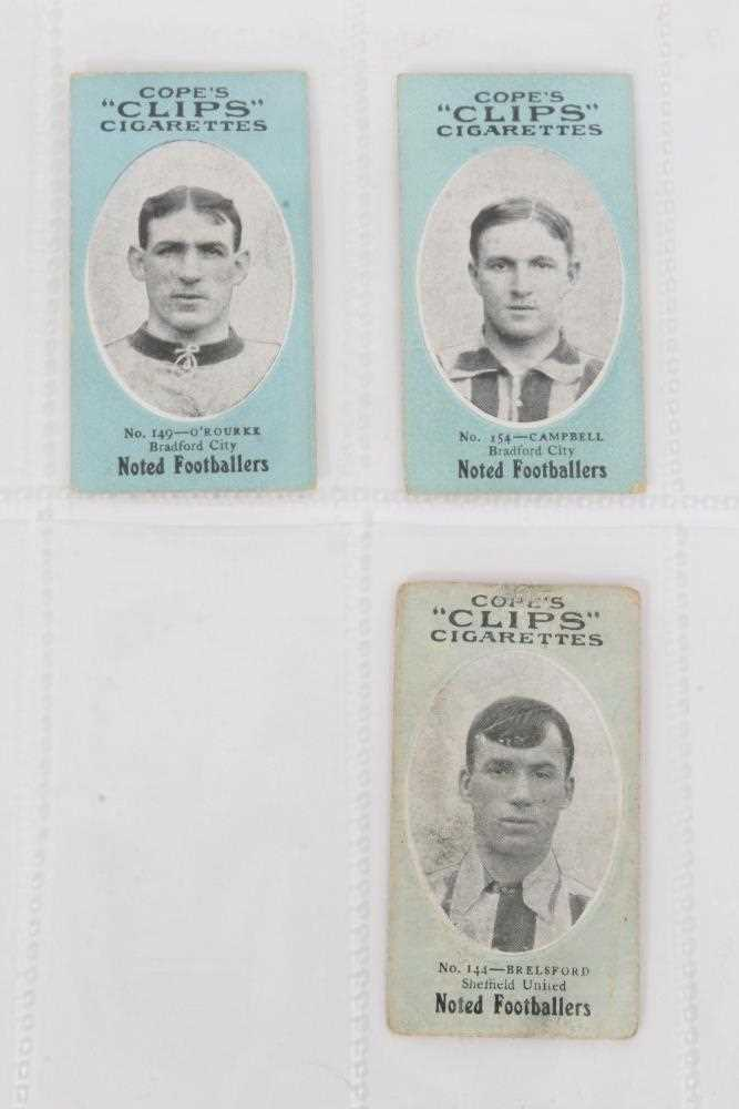 Cigarette cards - Cope Bros 1910. Noted Footballers (Clips 282 Subjects) 41 different subjects.
