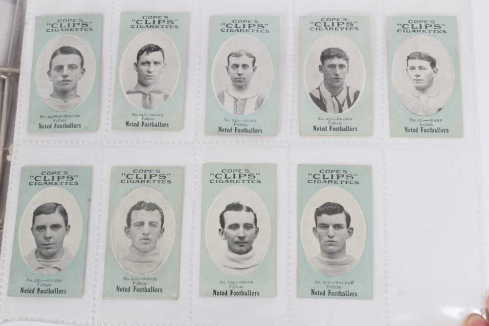 Cigarette cards - Cope Bros 1910. Noted Footballers (Clips 282 Subjects) 41 different subjects. - Image 11 of 12