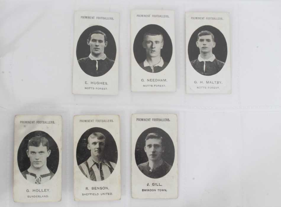 Cigarette cards - Taddy 1907/8 Prominent Footballers - 12 different, variety of backs including (Imp - Image 3 of 4