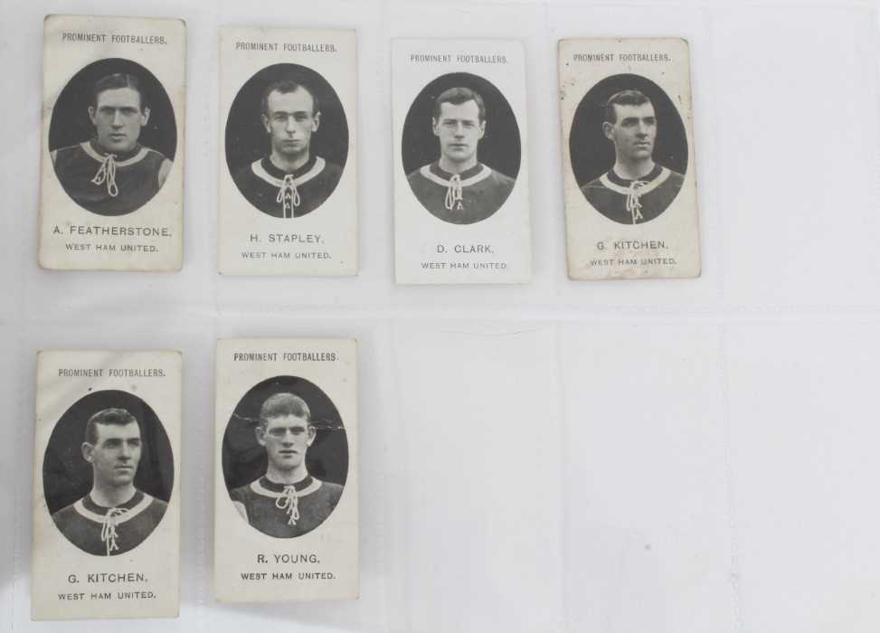 Cigarette cards - Taddy 1907/8 Prominent Footballers - West Ham United, 12 different cards. - Image 3 of 4