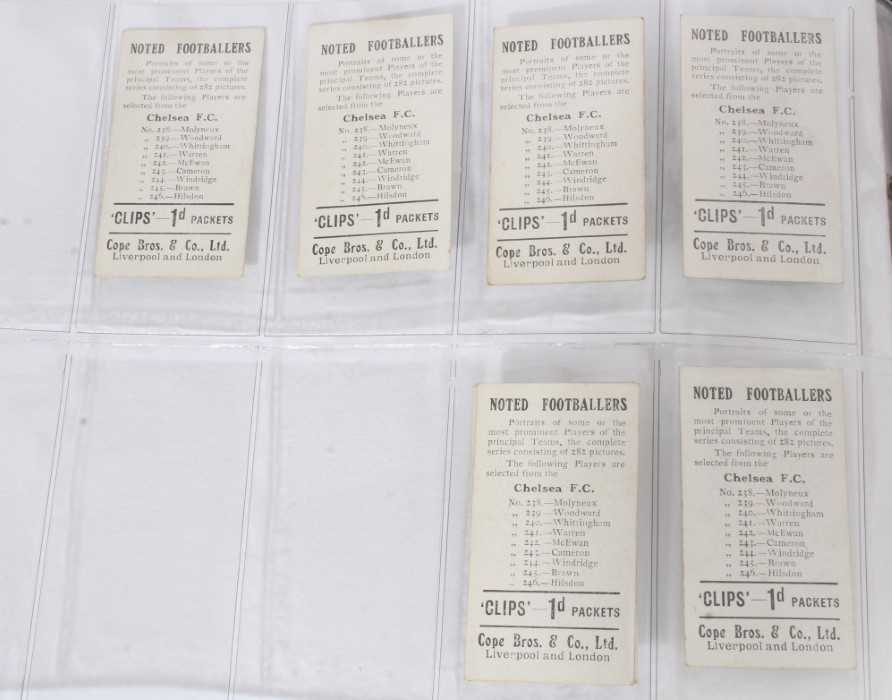 Cigarette cards - Cope Bros 1910. Noted Footballers (Clips 282 Subjects) 41 different subjects. - Image 6 of 12