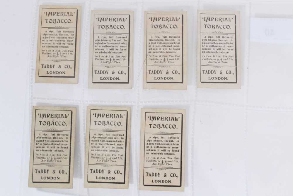 Cigarette cards - Taddy 1907/8 Prominent Footballers - 12 different, variety of backs including (Imp - Image 2 of 4
