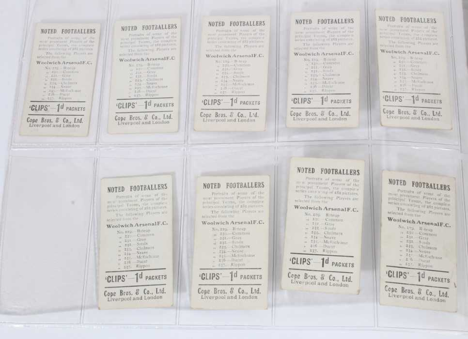 Cigarette cards - Cope Bros 1910. Noted Footballers (Clips 282 Subjects) 41 different subjects. - Image 10 of 12