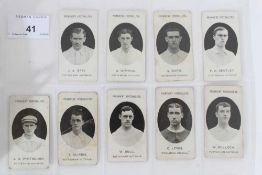 Cigarette cards - Taddy 1907/8 Prominent Footballers - 9 different, variety of backs..