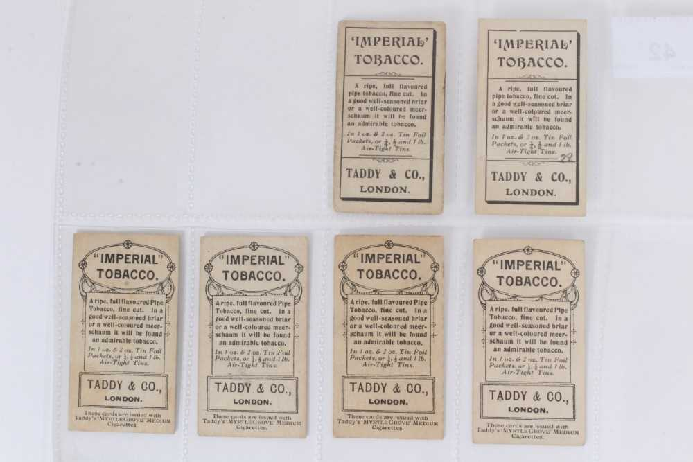 Cigarette cards - Taddy 1907/8 Prominent Footballers - West Ham United, 12 different cards. - Image 2 of 4