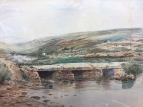 Frederick Waters, late 19th century watercolour and three other watercolours
