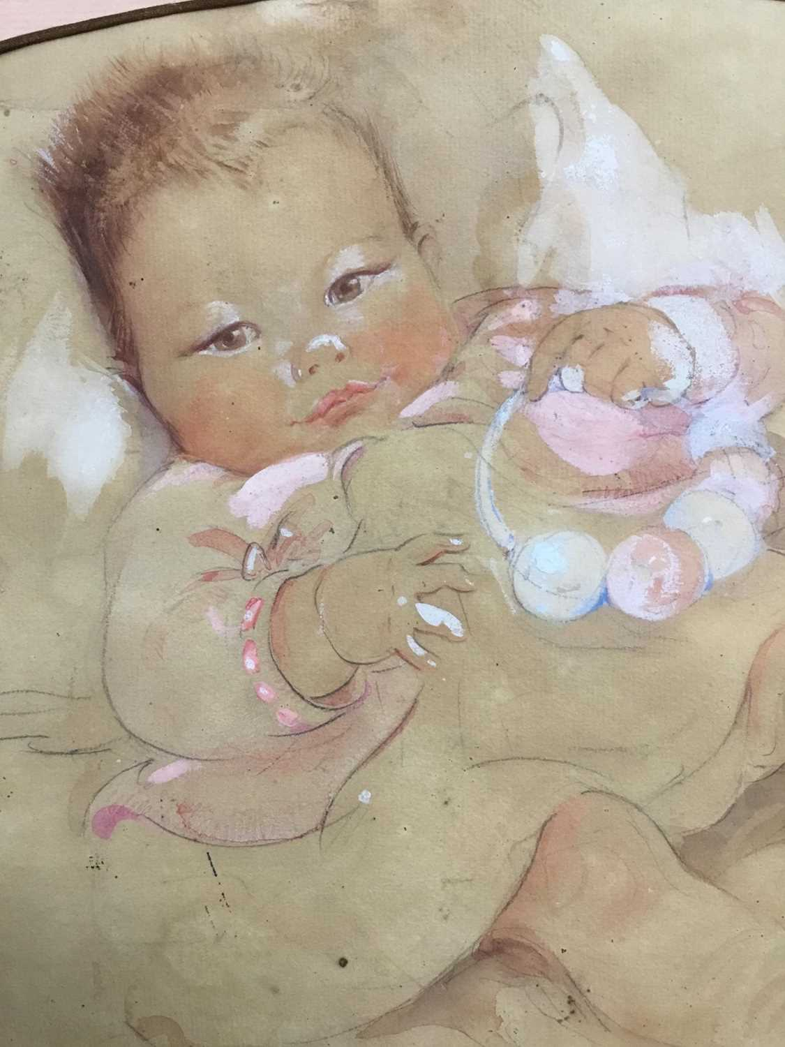 Eileen Alice Soper (1905-90), watercolour of a baby, 1934 and signed - Image 8 of 8