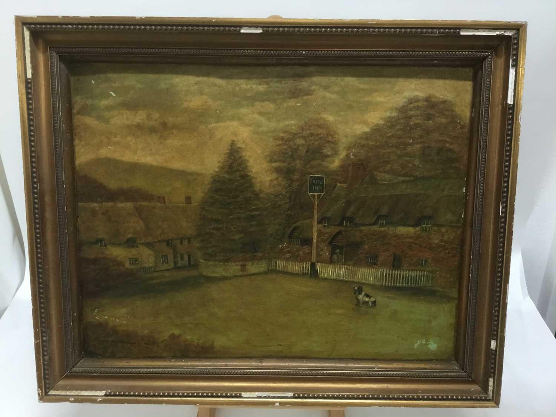 Oil of board of the Castle Inn - Image 5 of 6