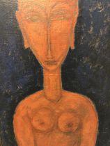 Follower of Modigliani oil on canvas figure study