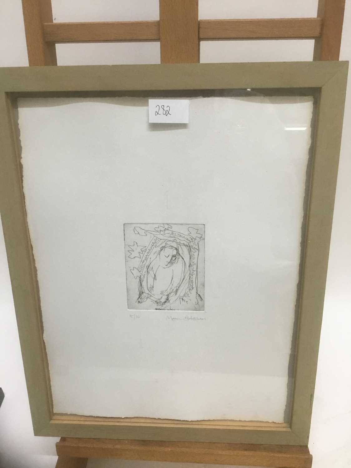 Marcia Blakenham (b. 1946), two signed etchings - figures, one numbered 15/16, in glazed frames - Image 4 of 9