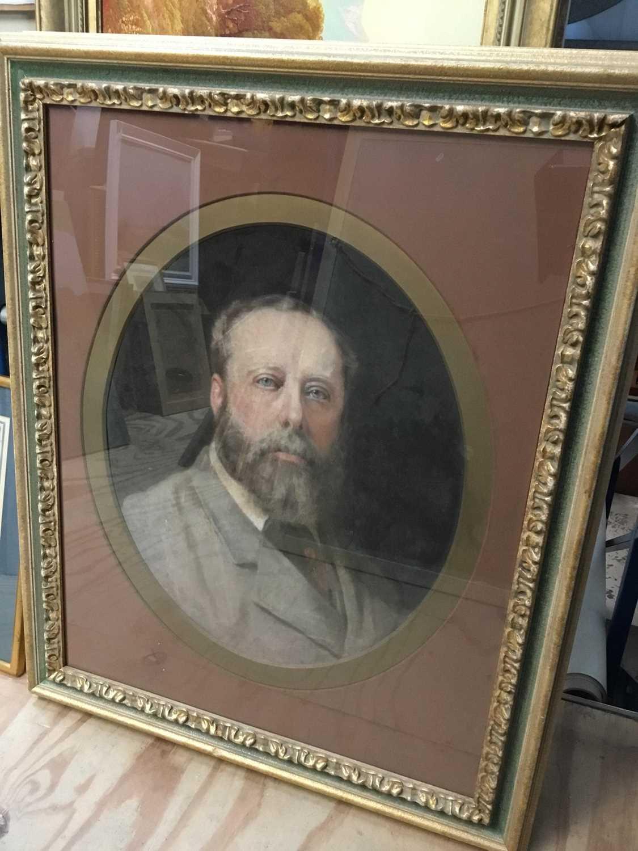 John Whitehead Walton (19th century) pair of pastel portraits. - Image 5 of 8