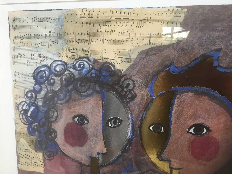 Rosina Wachrmeister (b. 1939) print 'Two girls playing flute - Image 4 of 5