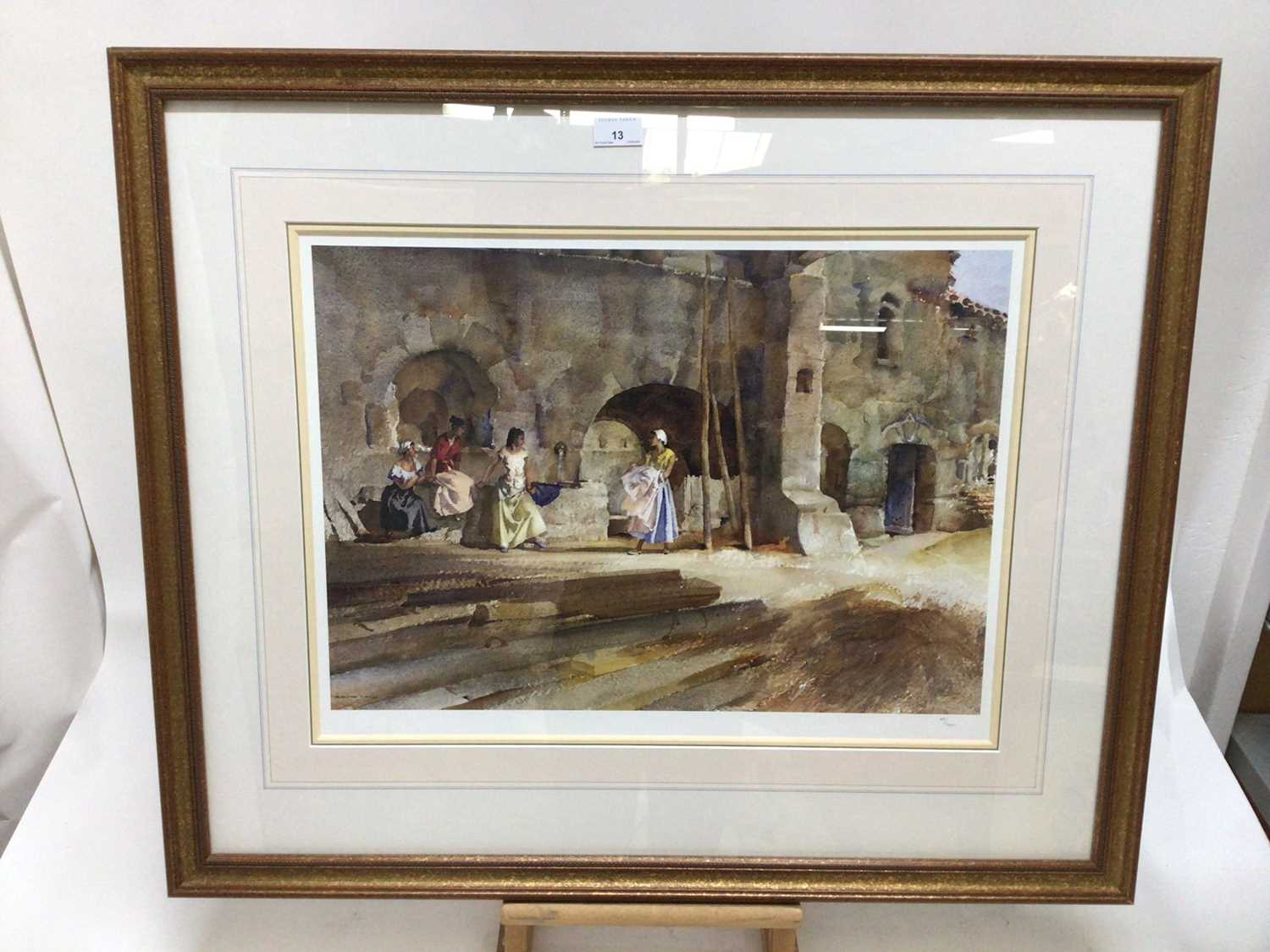 William Russell Flint (1880-1969) limited edition colour print - female figures gathered, with WRF b - Image 2 of 7