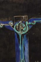 Manner of Graham Sutherland watercolour and bodycolour