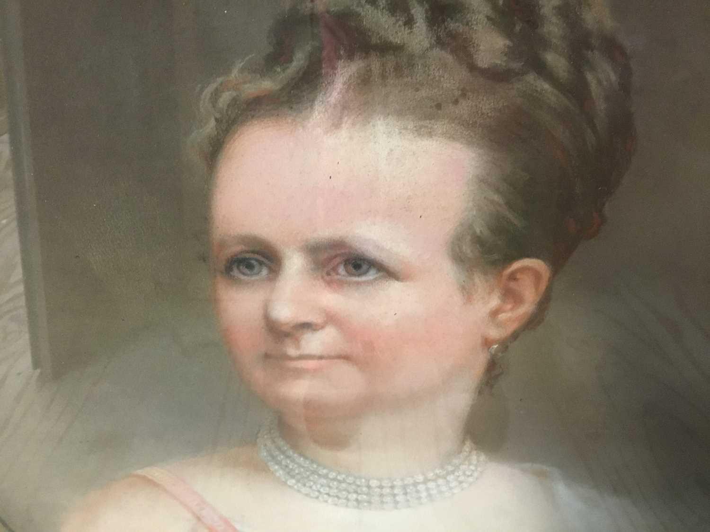 John Whitehead Walton (19th century) pair of pastel portraits. - Image 3 of 8