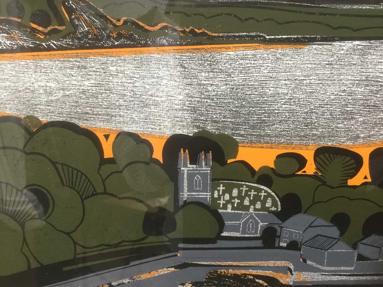 Graham Clarke (b. 1941) woodcut, 1967, St Anthonys, numbered 24/50 - Image 5 of 7