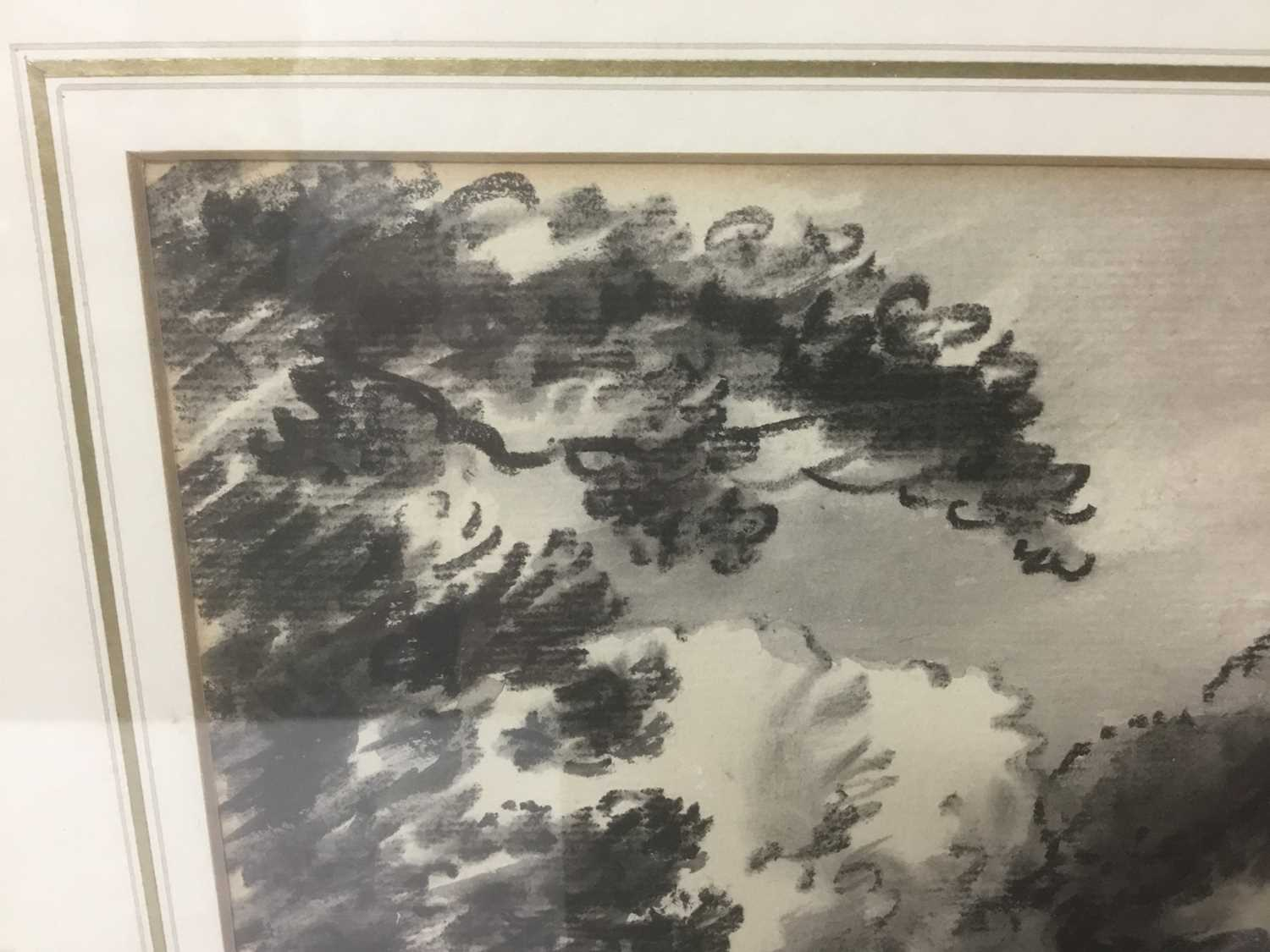 Thomas Monro (1759-1833) charcoal and wash - a landscape, in glazed gilt frame - Image 3 of 6