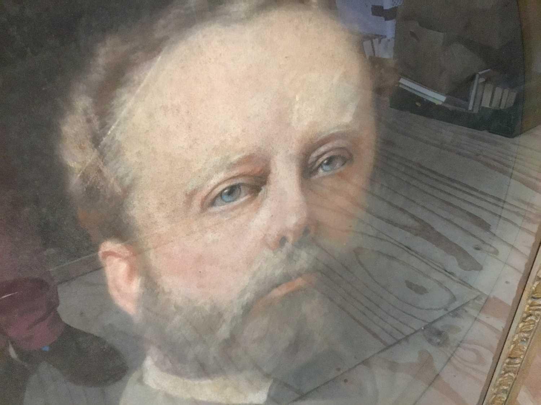 John Whitehead Walton (19th century) pair of pastel portraits. - Image 8 of 8