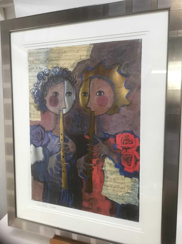 Rosina Wachrmeister (b. 1939) print 'Two girls playing flute - Image 3 of 5