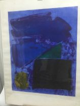 John Hoyland (1934-2011) etching and aquatint 'Memphis Blue' artist's proof, numbered 1 of 10, signe