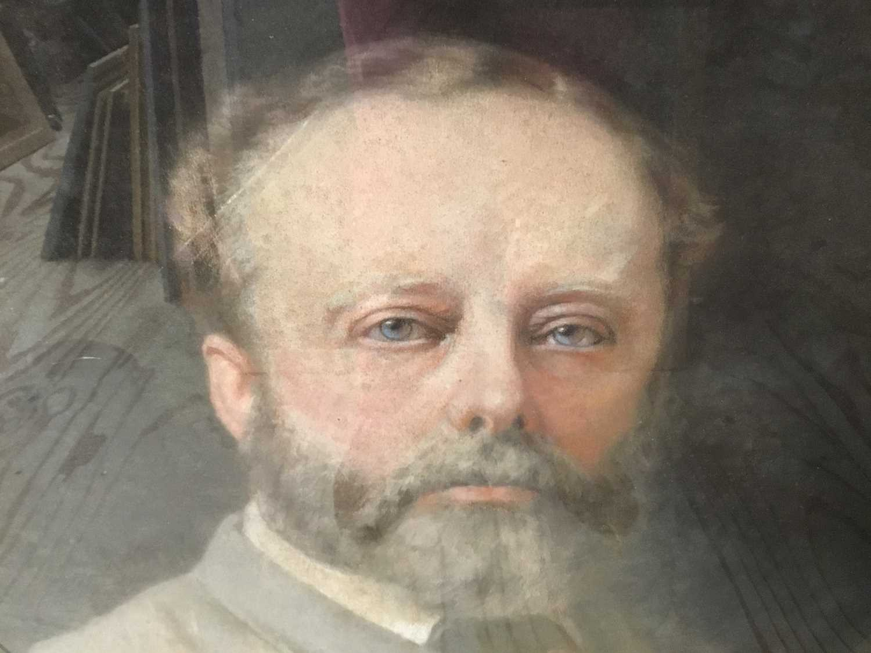 John Whitehead Walton (19th century) pair of pastel portraits. - Image 6 of 8