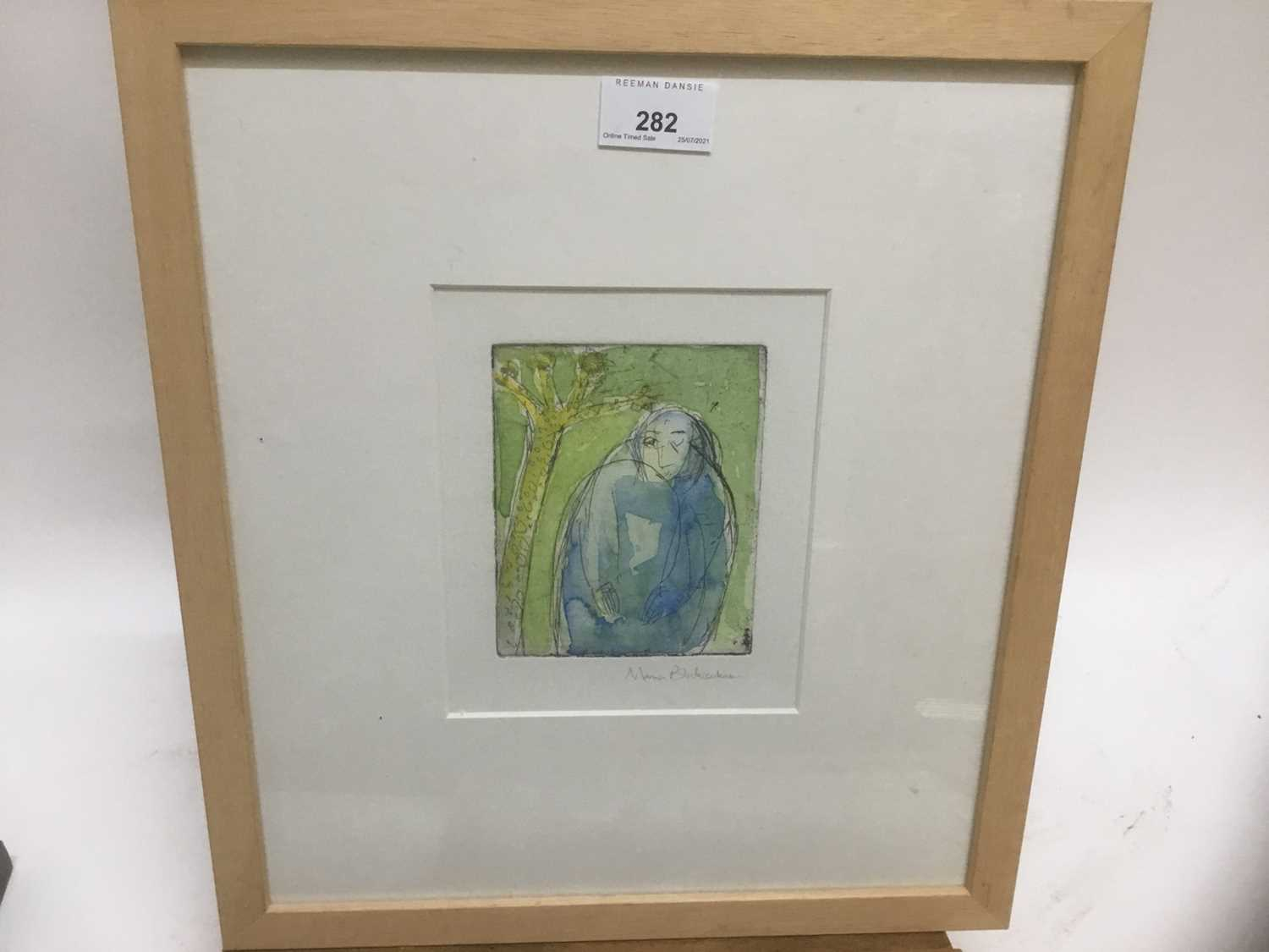Marcia Blakenham (b. 1946), two signed etchings - figures, one numbered 15/16, in glazed frames - Image 6 of 9