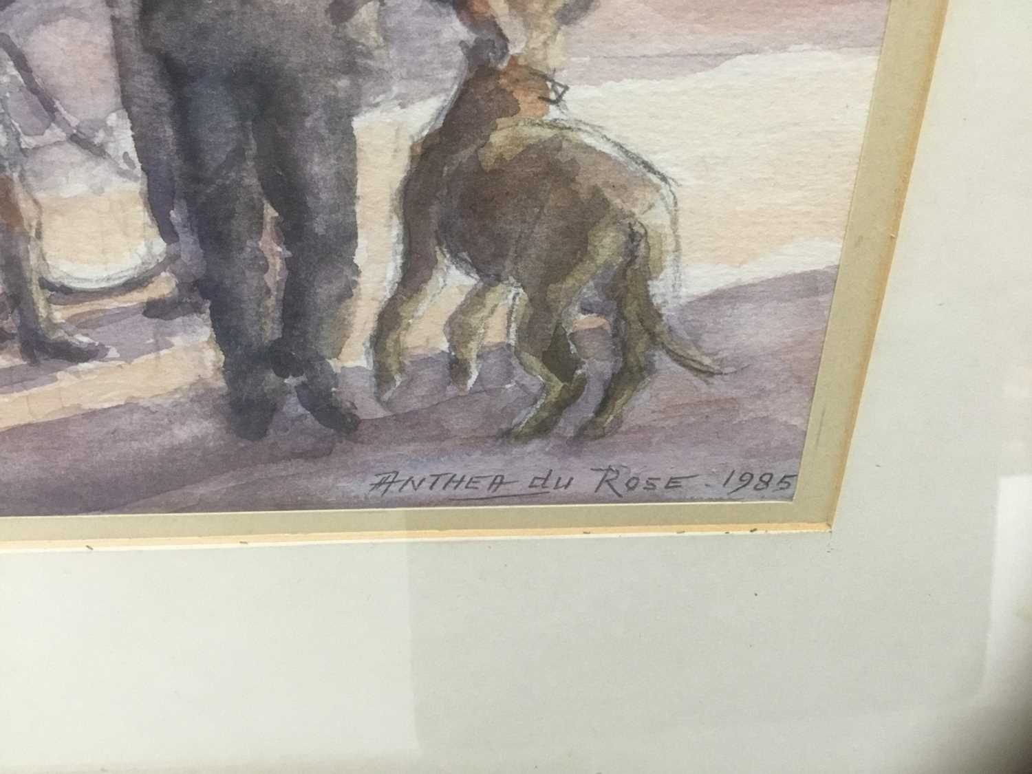 Anthea Du Rose (contemporary) watercolour- Stoke by Nayland - Image 3 of 5