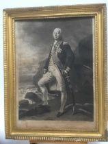 19th century mezzotint in period gilt frame