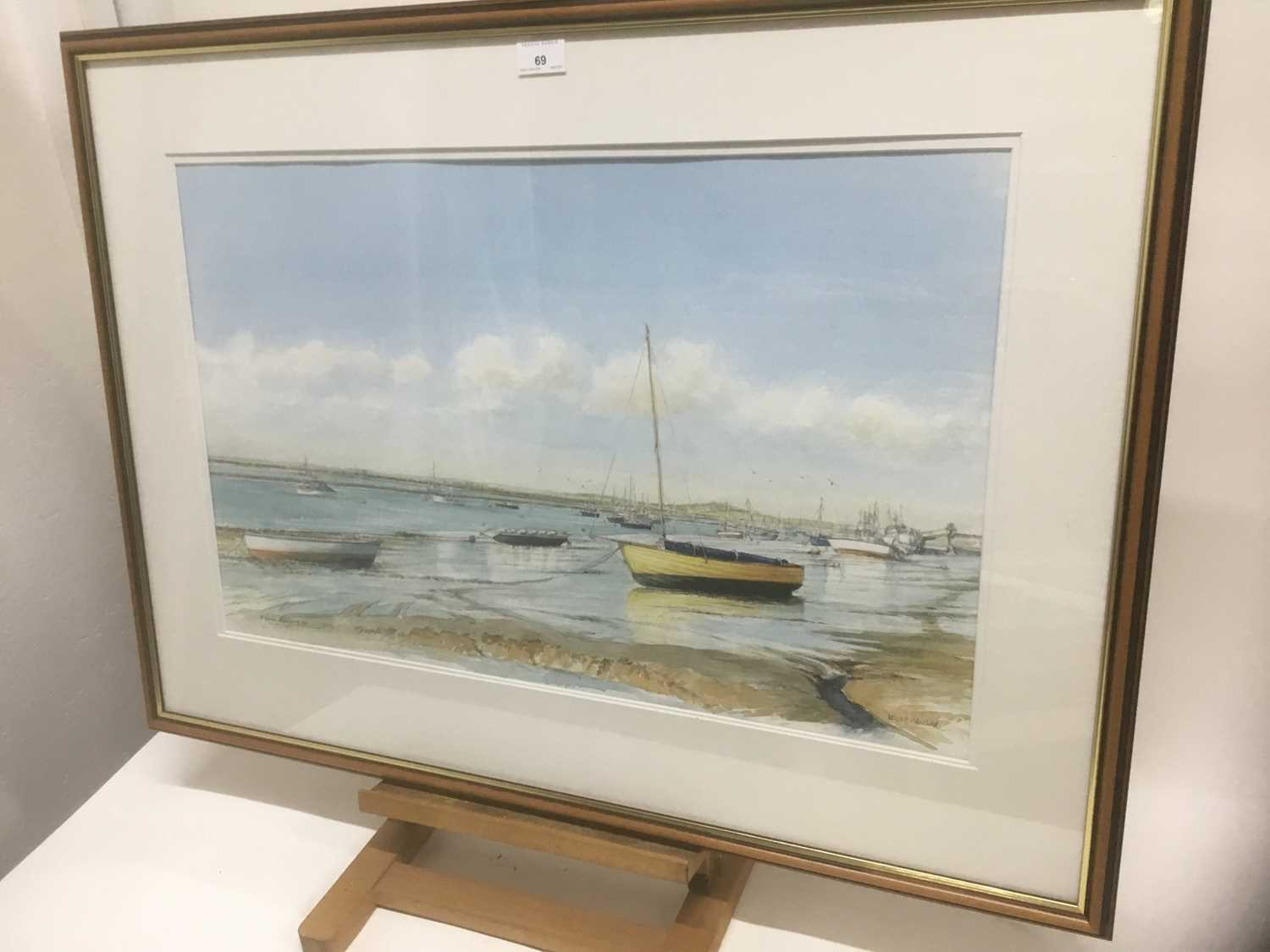 Edwin Meayers (b.1927) watercolour - West Mersea, signed, inscribed and dated '07, 42cm x 67cm, in g - Image 7 of 8