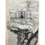 Glyn Thomas (b. 1946) etching Kersey