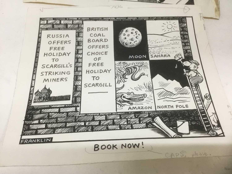 Franklin - group of original pen and ink political cartoons - Image 6 of 8