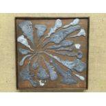 Two Abstract metal sculpture panels
