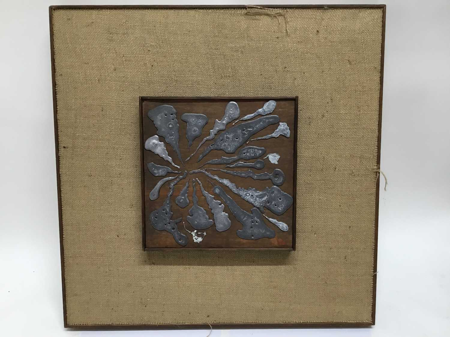 Two Abstract metal sculpture panels - Image 2 of 5