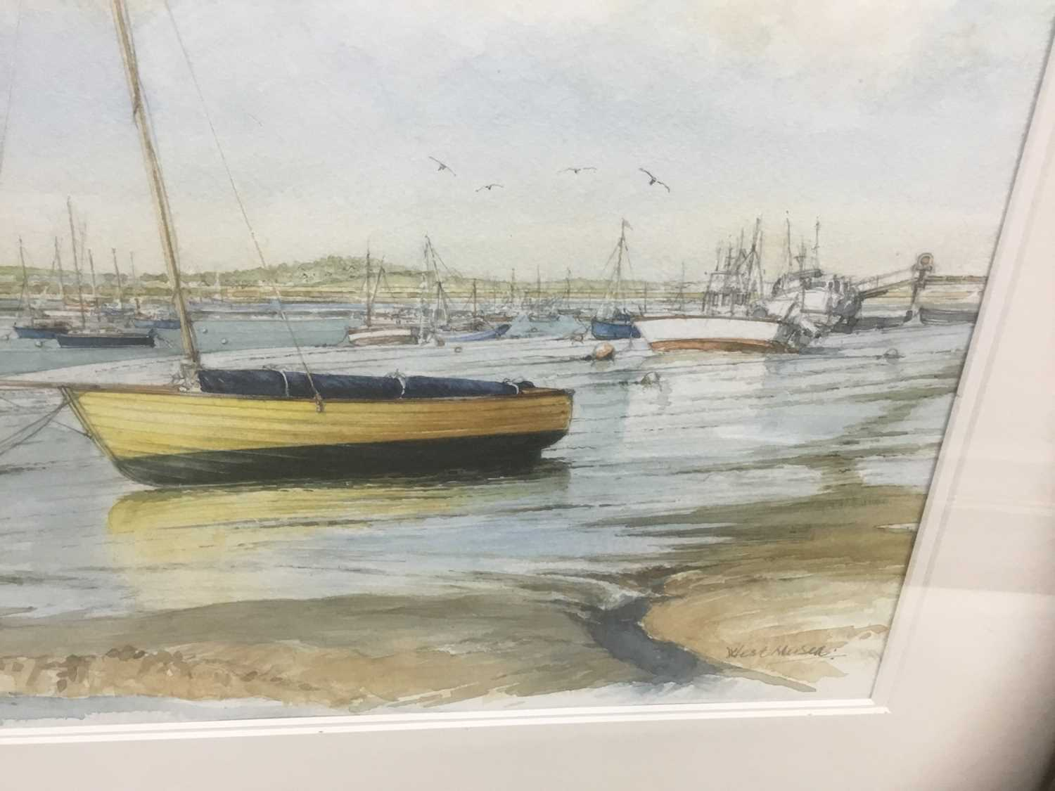 Edwin Meayers (b.1927) watercolour - West Mersea, signed, inscribed and dated '07, 42cm x 67cm, in g - Image 6 of 8