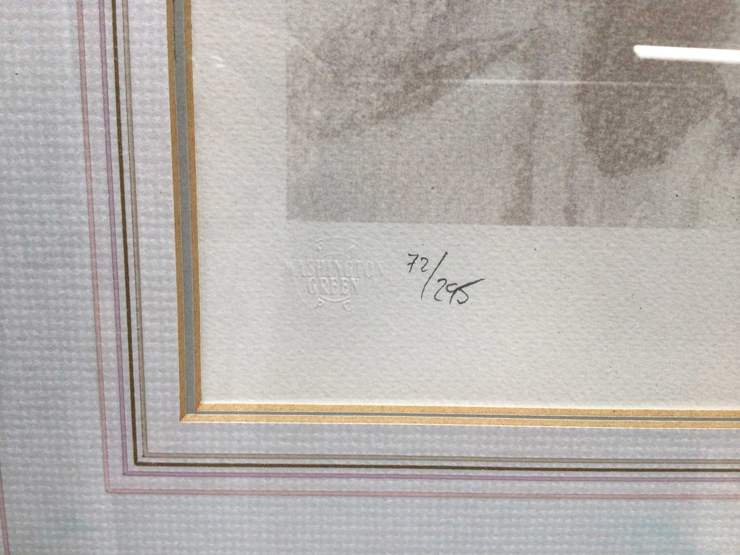 Gordon King (b.1939) signed limited edition lithograph - Studio Look, 72/295, 41cm x 54cm, in glazed - Image 4 of 10