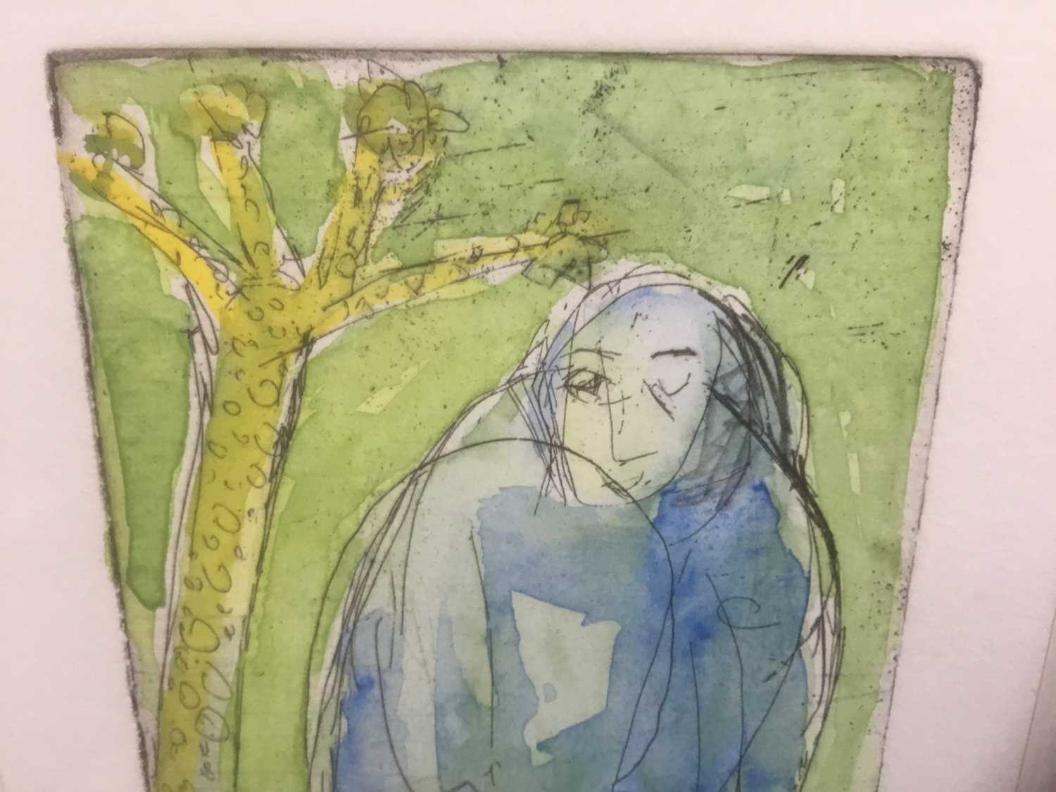 Marcia Blakenham (b. 1946), two signed etchings - figures, one numbered 15/16, in glazed frames - Image 7 of 9