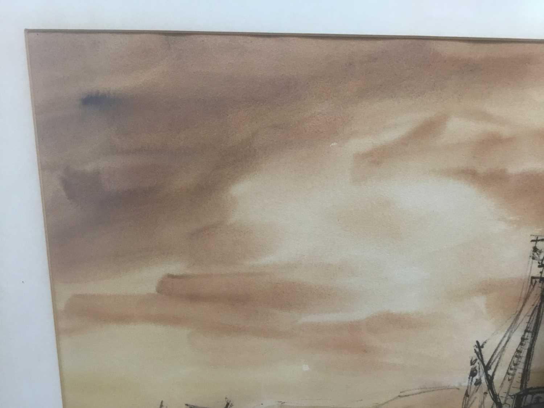 Kurt Schicketanz watercolours 'Lago todo los Santos' and 'Caleta de Pescadores Iquique' - Image 5 of 14