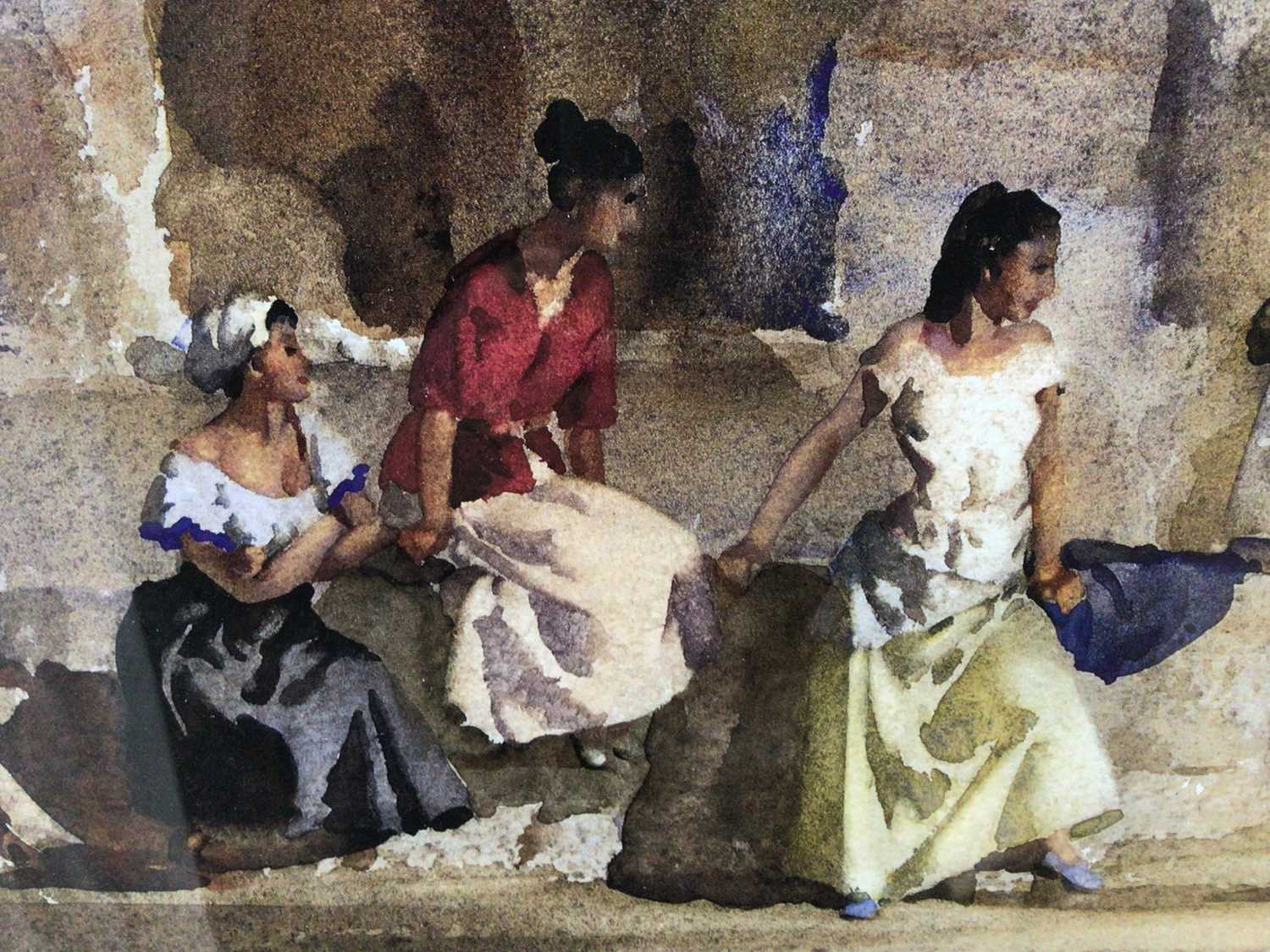 William Russell Flint (1880-1969) limited edition colour print - female figures gathered, with WRF b - Image 5 of 7