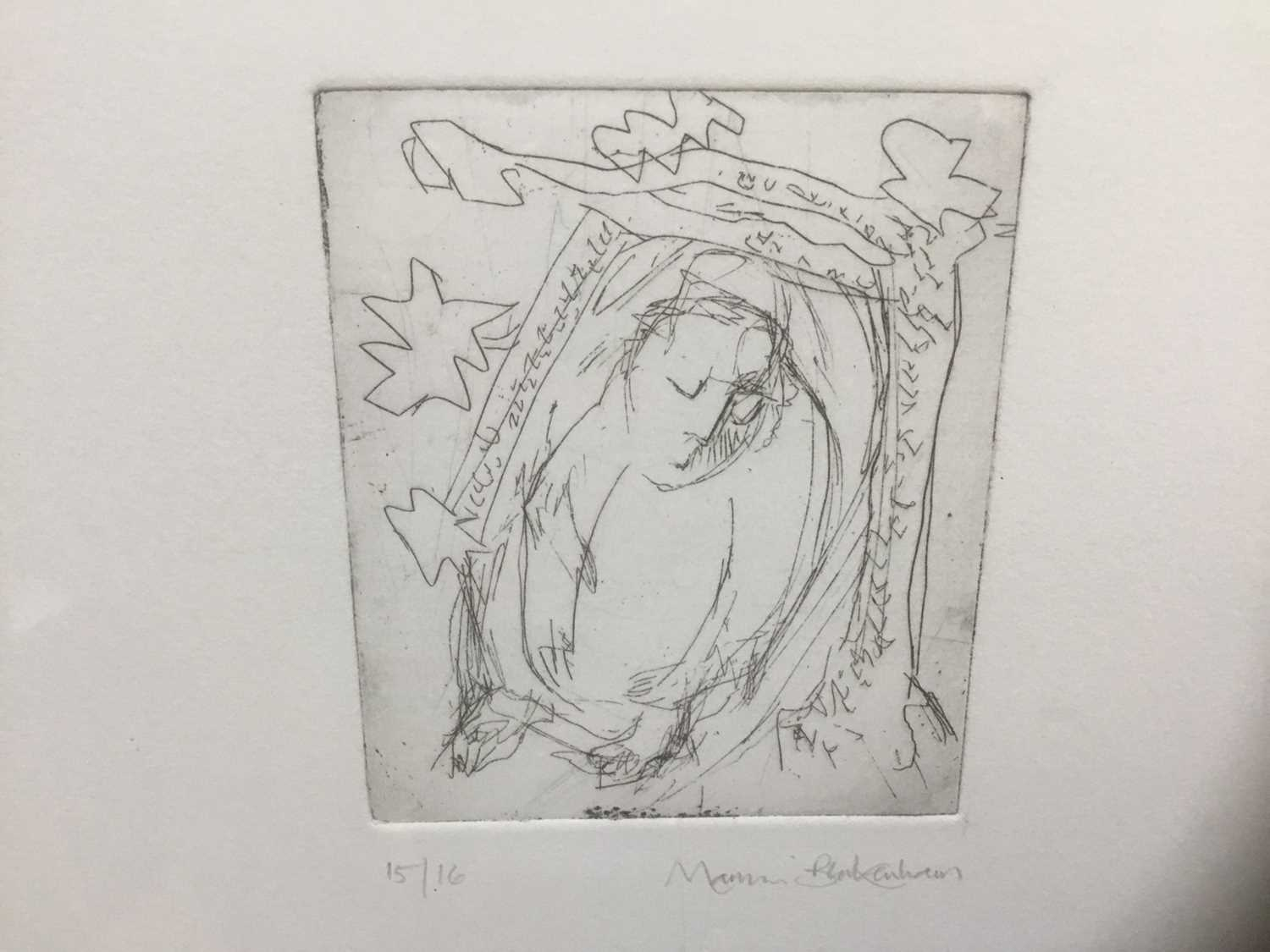 Marcia Blakenham (b. 1946), two signed etchings - figures, one numbered 15/16, in glazed frames