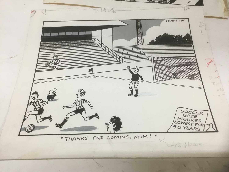 Franklin - group of original pen and ink political cartoons - Image 5 of 8