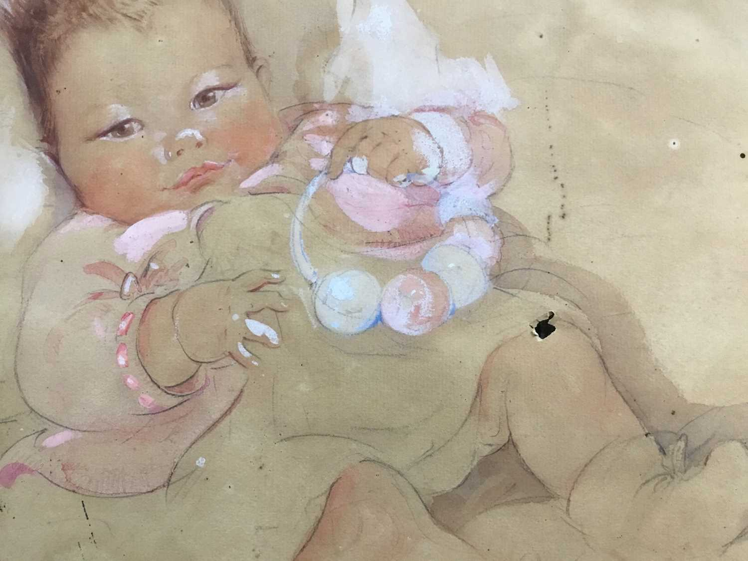 Eileen Alice Soper (1905-90), watercolour of a baby, 1934 and signed - Image 5 of 8