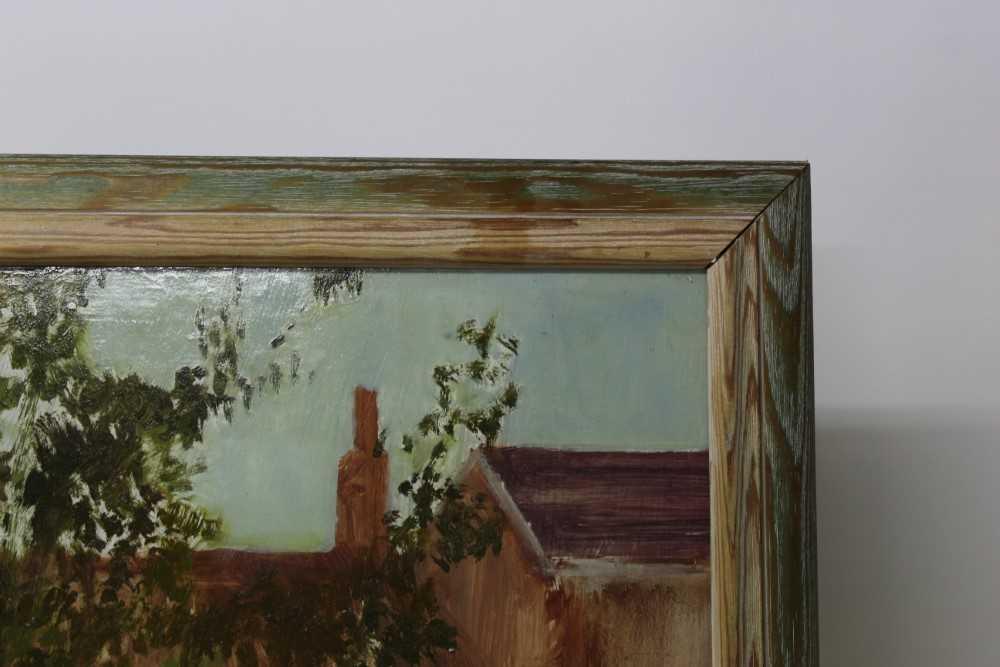 Pat Jourdan (Contemporary) oil on board, Back garden - Image 8 of 9