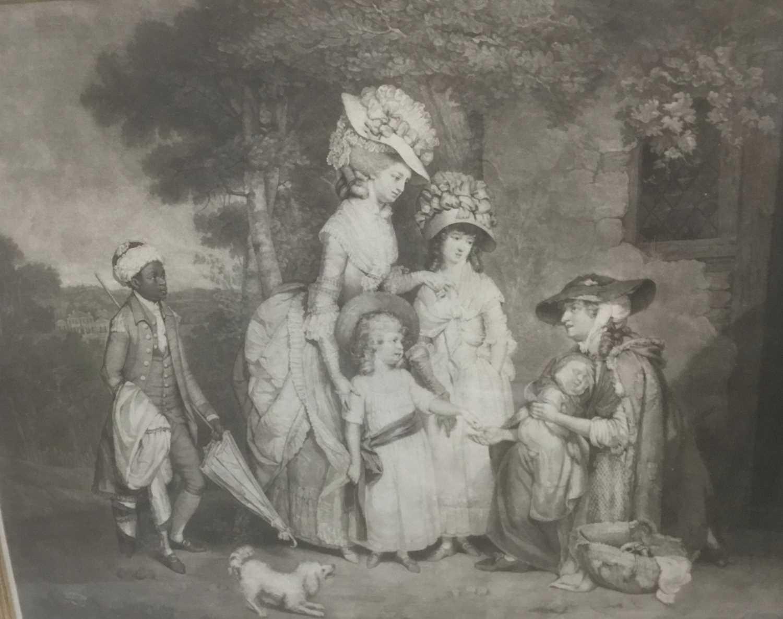 Four antique engravings