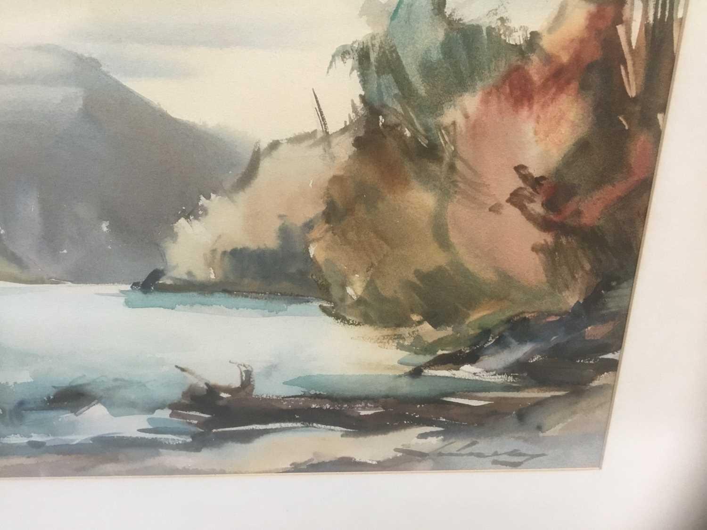 Kurt Schicketanz watercolours 'Lago todo los Santos' and 'Caleta de Pescadores Iquique' - Image 11 of 14