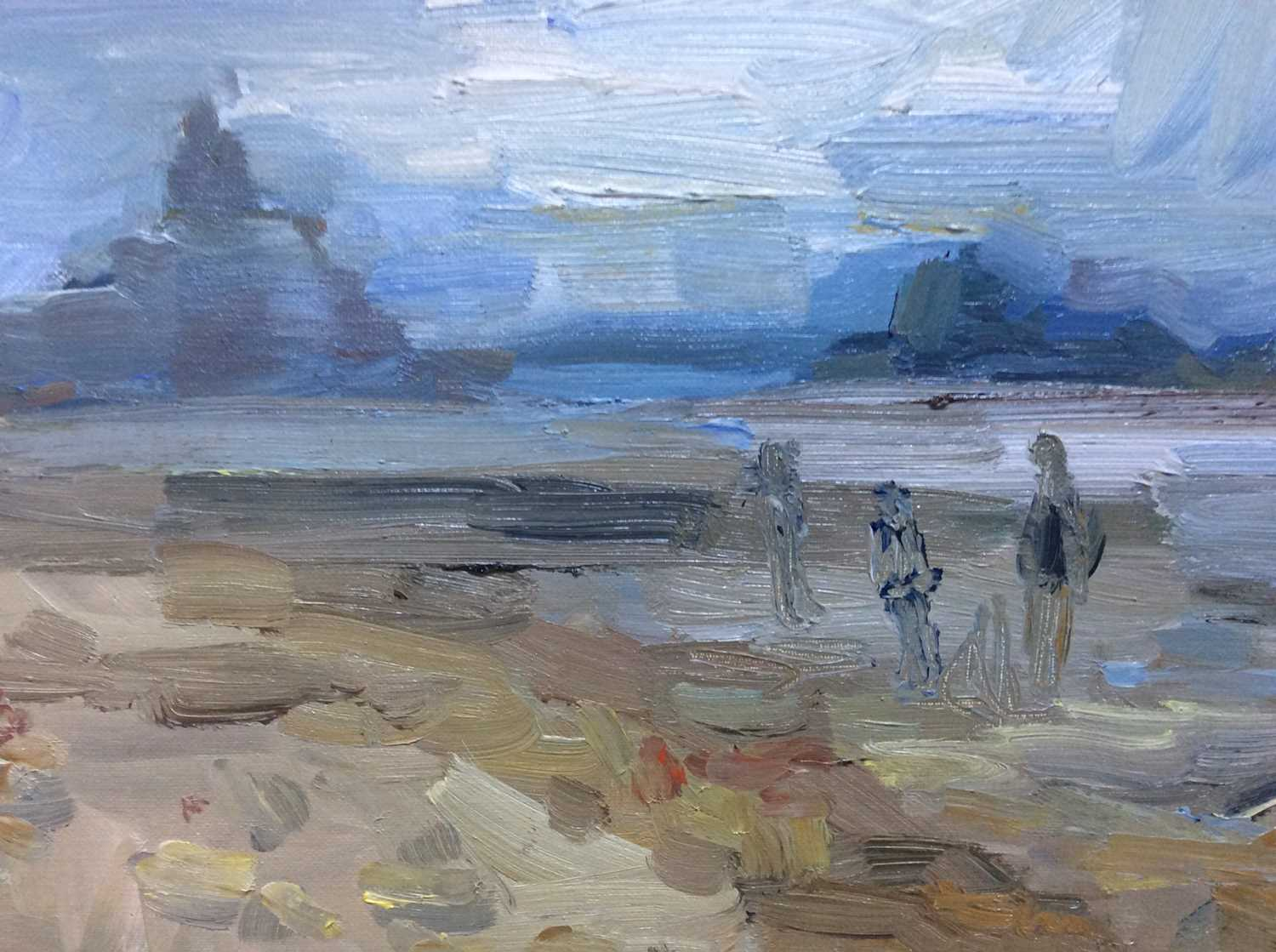 Annelise Firth (b.1961) oil on canvas - St. Michael's Mount Bay, signed and dated verso, 40.5cm x 51 - Image 2 of 6