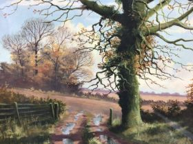 Kevin Curtis (1958-2009) watercolour, December Day, Foxall, together with an H A Stanley watercolour