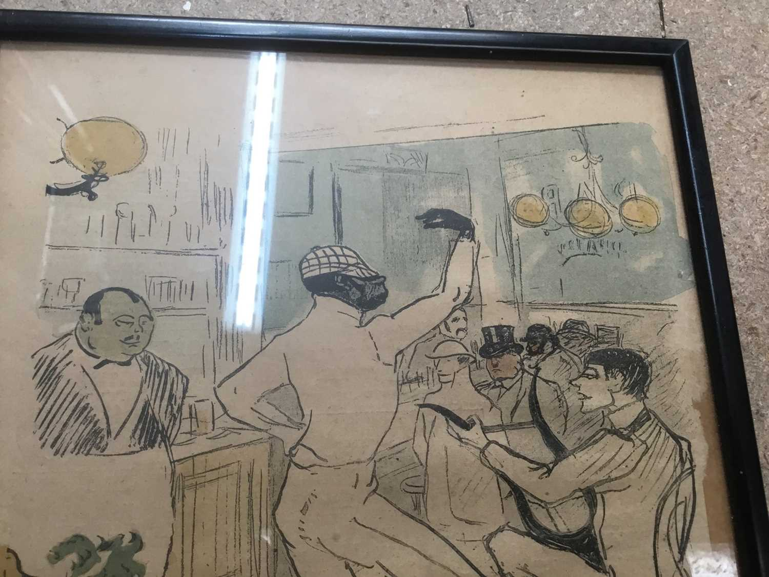 Toulouse-Lautrec three original plates from Le Rire - Image 8 of 8