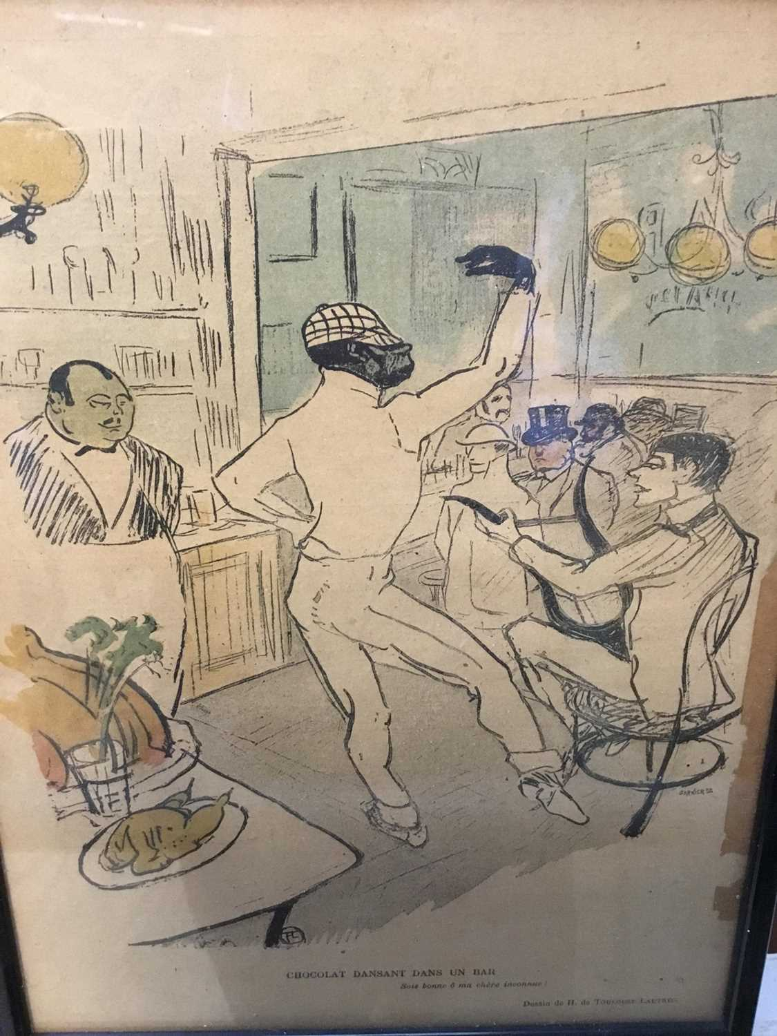 Toulouse-Lautrec three original plates from Le Rire